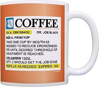 Coffee Lovers Gifts Prescription Coffee RX Pill Bottle Pharmacist Gift Coffee Mug Tea Cup Orange