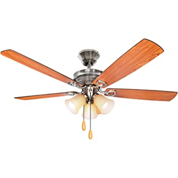 Westinghouse 7877365 Richboro SE Two-Light 42-Inch Reversible Five-Blade Indoor Ceiling Fan Brushed Nickel with Frosted White Alabaster Glass Bowl