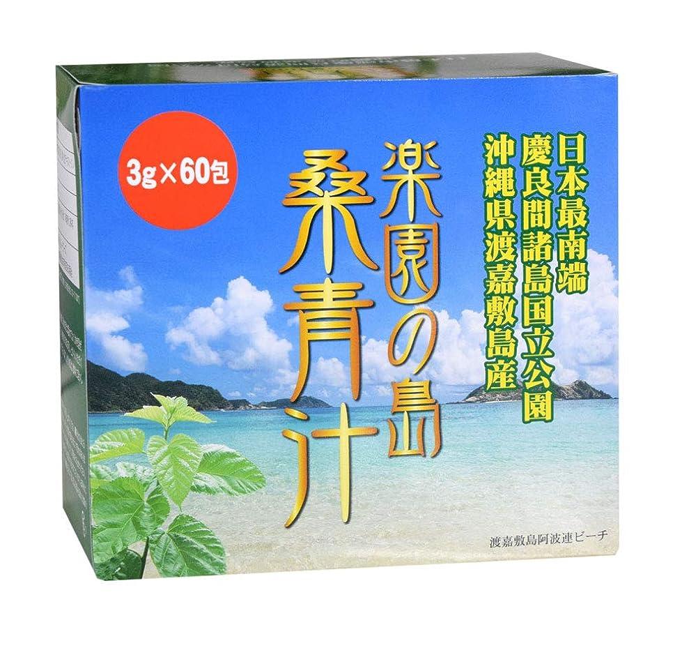 エゴイズム手書き元気渡嘉敷島産桑の葉  楽園の島 桑青汁 3g×60包