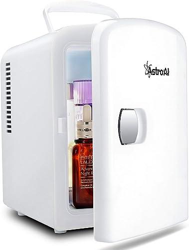 AstroAI Mini Refrigerador Portátil, Mini Nevera Electrónica para el Skincare 4L/6 Latas de Refrescos, Mini Neveras, M...