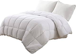 Edilly All Season Reversible Down Alternative Quilted King Size Comforter Cotton Surface Microfiber Fill Machine Washable Duvet Insert Stand-Alone Comforter
