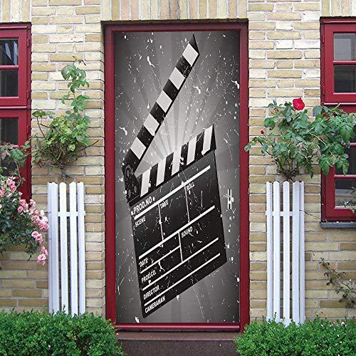 ZCFGG Pegatinas de pared 3D infantil Etiqueta Pizarra de película en blanco...