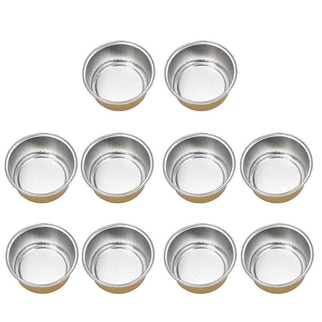 完了ショルダー毒性Perfeclan 10個 アルミホイルボウル ワックスボウル ミニボウル ワックス豆体 融解ケース 衛生 2種選ぶ - ゴールデン2, 02