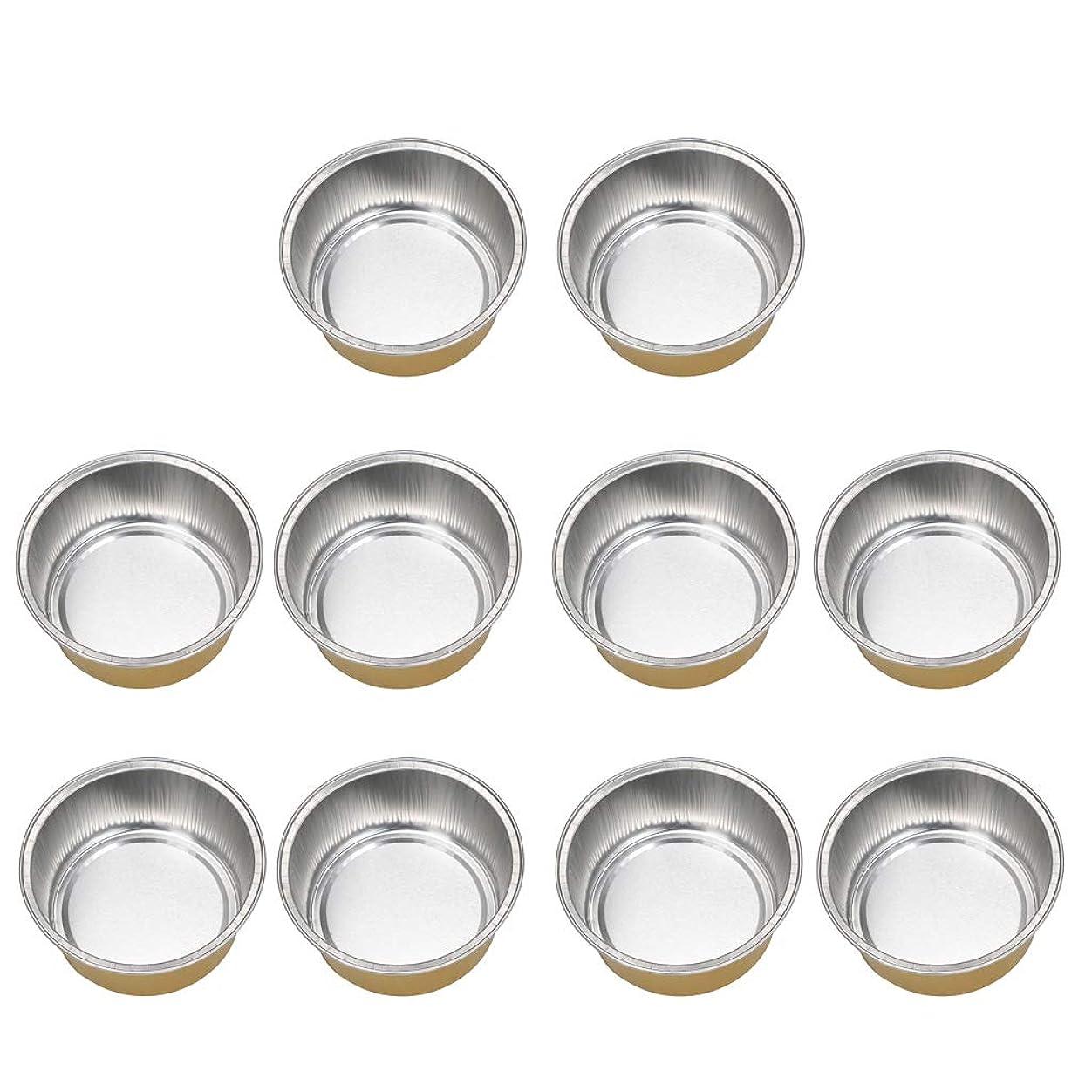 改革以前はPerfeclan 10個 アルミホイルボウル ワックスボウル ミニボウル ワックス豆体 融解ケース 衛生 2種選ぶ - ゴールデン2, 02