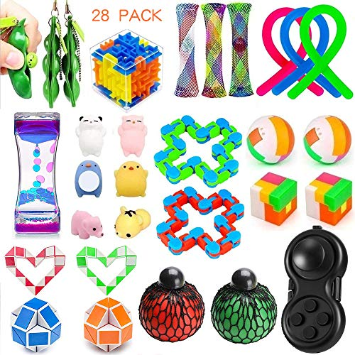 Relieves Stress and Anxiety Fidget Toy for Children... 28 Pack Sensory Toys Set