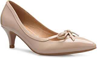 OLIVIA K Women¡¯s Classic Closed Toe D'Orsay Bow Kitten...