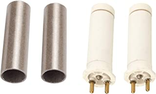 VOTOER 2pcs Ceramic Heating Core Heating Element for Handheld Plastic Hot Air Welder Gun Tool Accessory Replacement Parts with Mica Tube