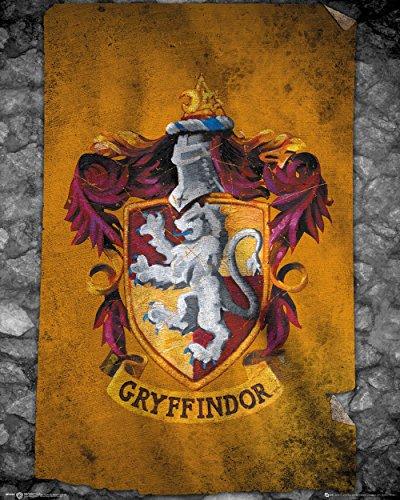 GB eye LTD Harry Potter Gryffindor Flagge Mini Poster 40 x 50 cm Holz Verschiedene 65 x 3,5 x 3,5 cm