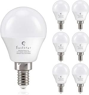 Sailstar Candelabra LED Light Bulbs 60-Watt Equivalent, Daylight White 5000K, E12 Candelabra Base, 6 Watt A15 LED Bulbs for Ceiling Fan, Vanity Mirror Light | 6-Pack