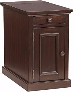 Ashley Furniture Signature Design - Laflorn Chairside End Table - Rectangular - Sable Brown