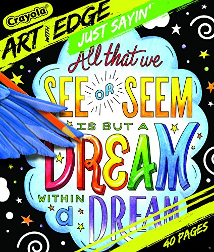 Crayola Art with Edge Just Sayin Coloring Book, Adult Coloring, 40 Pages
