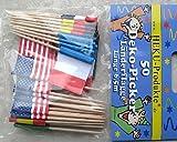 HEKU® 729 Party 50 Cocktailspiesser Partysticks National Flaggen