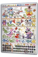 カレンダー Perpetual Calendar Retro Lindner Fairy Tale Animals Tin Metal Magnetic