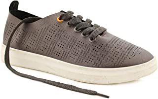 Chumbak Sprinting Steps Grey Sneakers - 38
