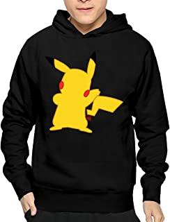 Boy No Face Cartoon Pikachu Pokemon Cool Hooded Sweatshirt Pullover