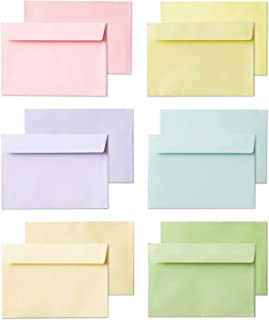 Invitation Envelopes, 120-Pack 4x6 Envelopes for Invitations, Pastel Colored Envelopes, A4, 4 1/4 x 6 1/4 Inches, 6 Colors