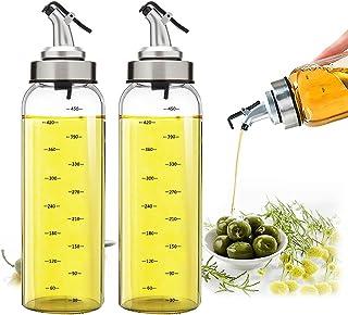 Vaporisateur Huile d'olive Verre, minghaoyuan 500ml Bouteille d'huile en Verre Sans Plomb, Bouteille de Distributeur d'hui...