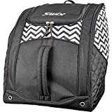 Swix Lo Pro Z TOP Tri Pack - Backpack Boot Bag - 5 Compartment - Perfect for Ski or Snowboard Boots, Black, Low Profile