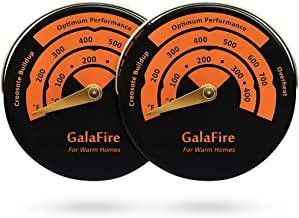 GALAFIRE 2PCS Stove Thermometer Magnetic Oven Thermometer Fireplace Accessories for Heat Powered Wood Stove Fan Avoid Overheating