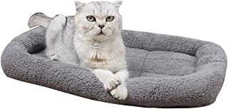 Saymequeen Pet Mattress Cat Dog Sofa Bed Vehicle Mats Plush Bolster for Kennels and Crates