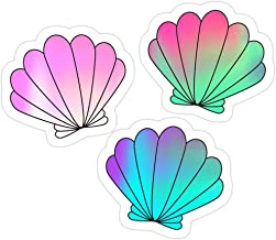 B. Strange Mall Holographic Mermaid Shells Sticker Set Stickers (3 Pcs/Pack)
