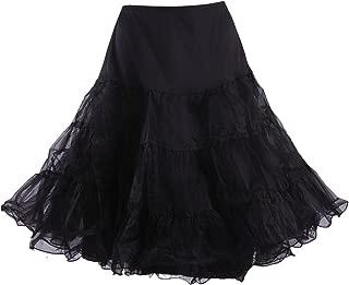 HDE Women's Plus Size Petticoat Vintage Swing Dress Underskirt Tutu Skirt