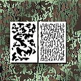 Acid Tactical Camo Stencils for Spray Paint Duck Jon Boat Stencils Camouflage Bark Army Design