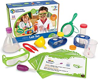 Learning Resources LSP2784-UK (-) Primary Science Set, Hands on Lab Kit for Kids, Easy Follow Activities, Beakers, Magnify...