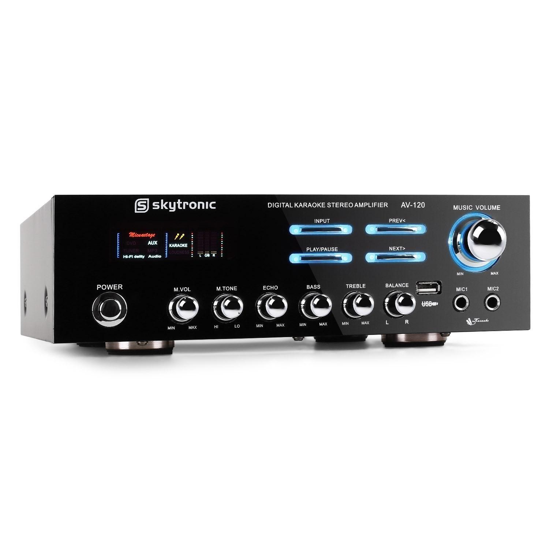 Skytronic 103.204 AV-120 amplificador HIFI Pa Karaoke: Amazon.es ...