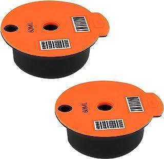 MagiDeal 2 Tasses De Café Capsules pour Bosch-s Capsules Réutilisables avec Slicone Couvercle pour Bosch Tassimo Machine -...
