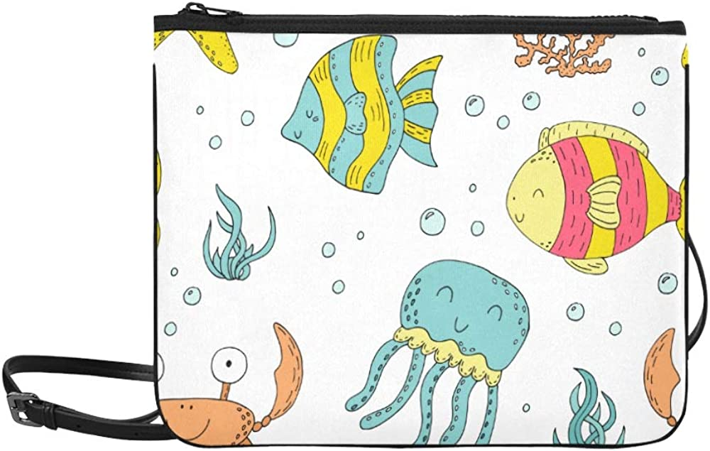 service Travel Handbag Marine Underwater Crab specialty shop Adjustable Shoulder Coral