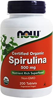 Now Foods - Spirulina Natural 500 Mg. 200 Tablets