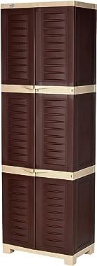 Supreme Fusion Plastic Cupboard (Large, Globus Brown/Dark Beige)