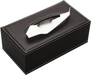 Yardwe Caja de Pa/ñuelos de Madera Estuche para Pa/ñuelos de Papel para Oficina Hogar Coche Negro