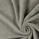 Fabulous Fabrics Frottee Bambou 4 grau — Meterware ab
