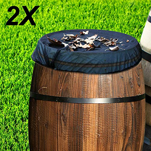 YORKING Regentonnen Netz Abdeckung Mückenschutz Wassertonne Wasserfass Regenfass Deckel Abdeckung 2er Set