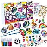 Tacobear Pittura di Pietra Kit Bambina Materiale Kit per Lavoretti Creativi Bambini Bricolage Giocattoli di Pittura Kit per Il Fai da Te Creativi Gioco per Bambini