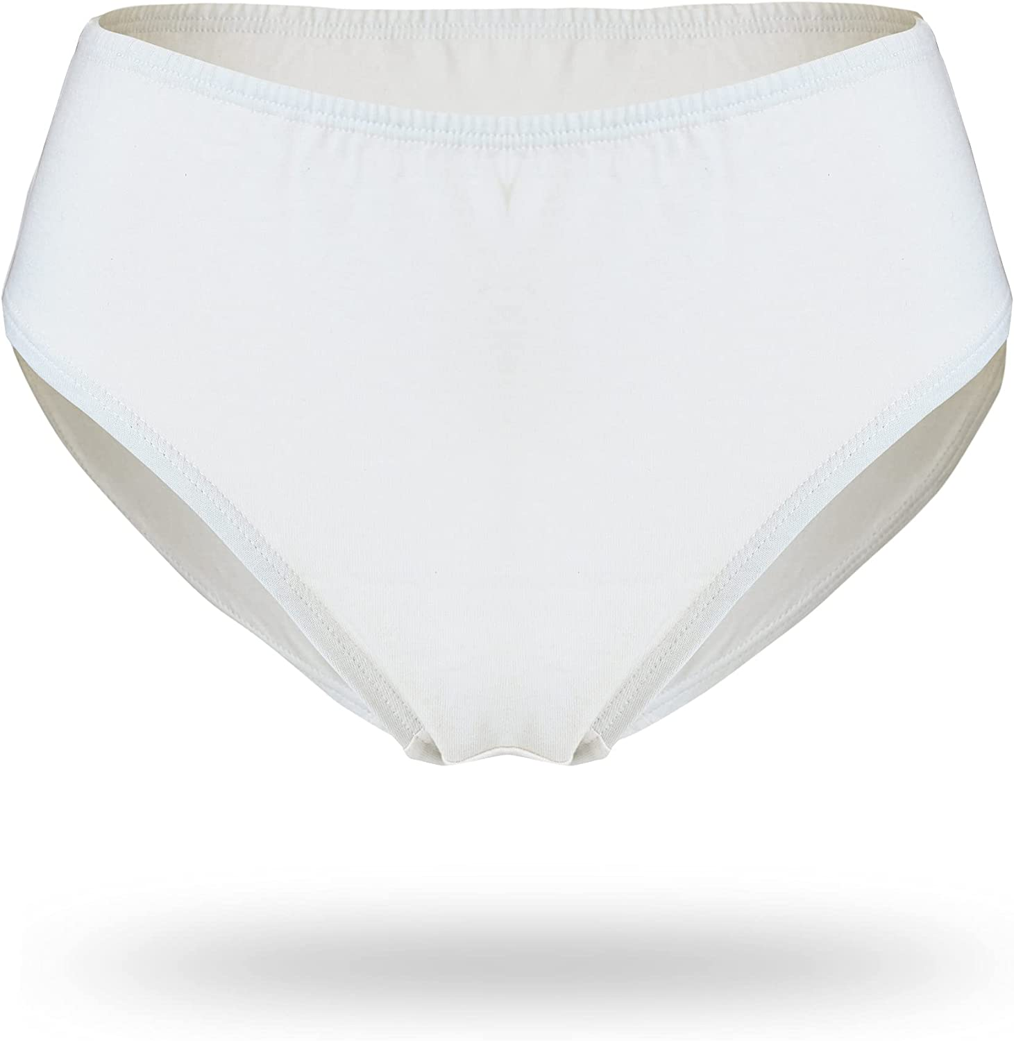 Cottonique Girl's Hypoallergenic Panty Made from 100% Organic Cotton (3/Pack)