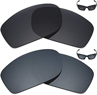 Mryok 2 Pair Polarized Replacement Lenses for Oakley Fives Squared Sunglass - Options