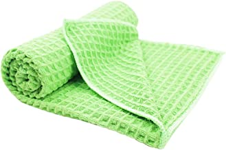 QualiKing Car Drying Towels, Waffle Weave Microfiber Cleaning Cloth with Super Absorbent for Large Car Washing Detailing P...
