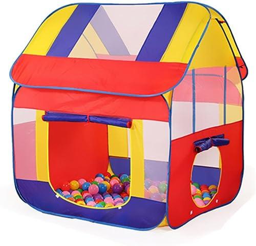 CSQ Tente d'enfant, Jeu de Plein air Chambre de Jouet Ménage Intérieur Pliez Bébé Garçon Fille Chambre Marine Ball Pool Envoyer Marine Balls 120  110  130 CM Maison de Jeux pour Enfants