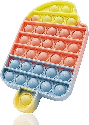 Push Pop Fidget Toys Bubble Keychain Sensory Toys Miniature Novelty Toys Anxiety Autism Early Educational Brain Development Toy Fidget Simple... 1