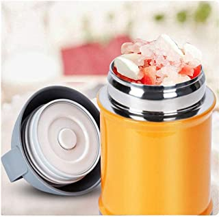 WCHCJ Thermal Lunch Box- Kids Insulated Mini Food & Soup Thermal Flask, Leakproof Student Stainless Steel Food Flask (Colo...