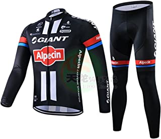 Strgao 2016 Men's Pro Racing Team MTB Bike Bicycle Cycling Long Sleeve Jersey and Pants Tights Set Suit