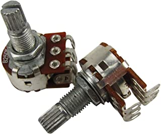 Musiclily B250K Dual Concentric Stacked Pot Linear Split Shaft Potentiometers for Electric Guitar and Bass Replacement (Pack of 2)