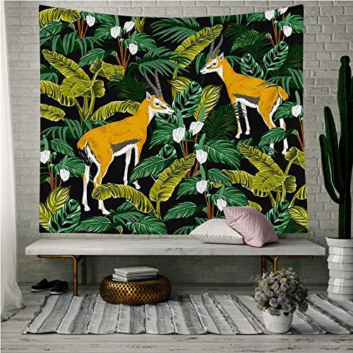 tapiz para dormitorio verano verde tapiz para sala de estar dormitorio colcha hojas de plantas tropicales impresas colgante de pared flor planta tapiz telas