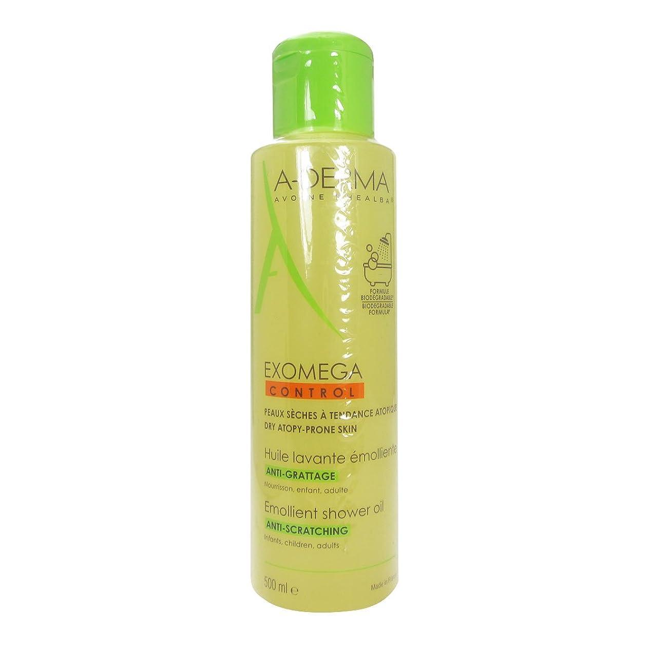 さようならく力A-derma Exomega Control Shower And Bath Oil 500ml [並行輸入品]