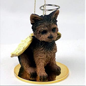 PET PALS SLEEPING YORKSHIRE TERRIER PUPPY DOG ORNAMENT//FIGURINE