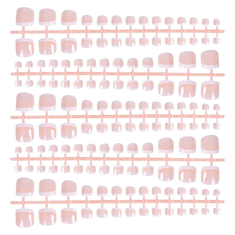 140 Pcs Max 41% OFF French False Toenails 14 Fake Nails Sizes Phoenix Mall Ti Toe