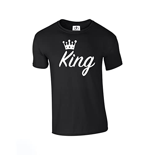 2febadb96a7 D H King Queen Crown Couples Valentines Matching Love 01 Lover Unisex Fit T  Shirt (King